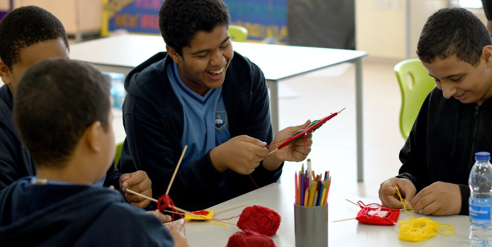 children with disabilities working together