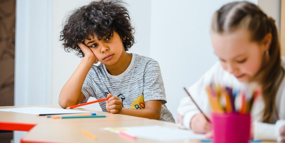 children learning at school